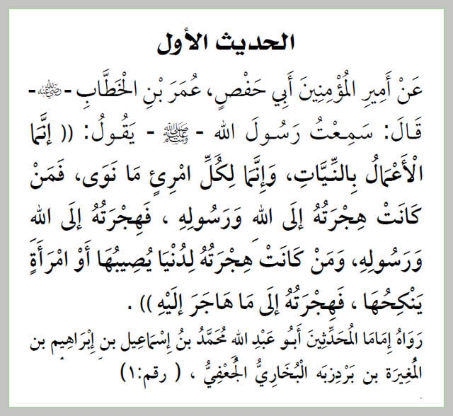 Hadith 01